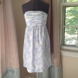 Vineyard Vines Umbrella Strapless Dress